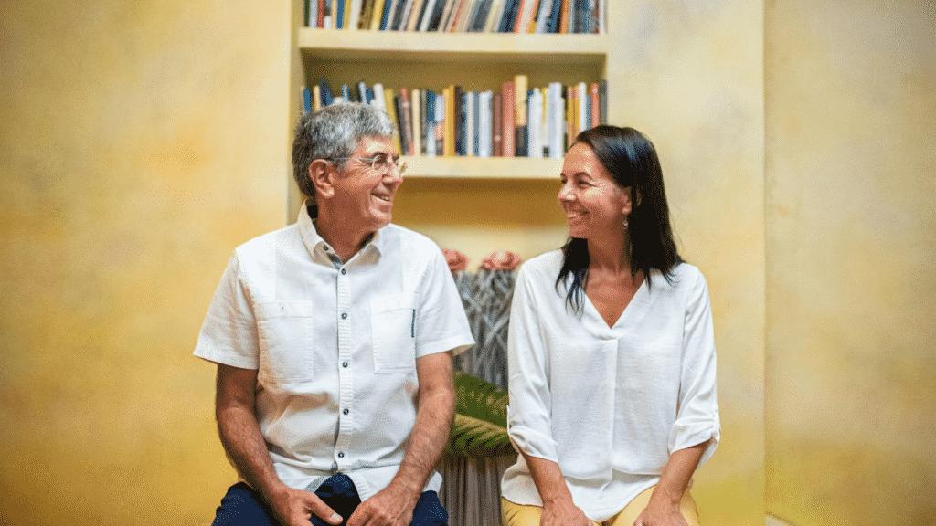 Karmelo Bizkarra y Amalia Castro